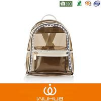 2015 factory new product fashionable LED flashing pvc shoulder bag/ backpack for summer