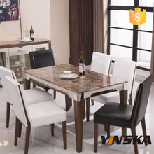 marble dining table with 4,6,8 chairs