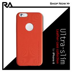"Ultra Slim Focus Orange, 2015 best sale 4.7"" PU leather anti-slip cover for iPhone 6"
