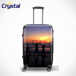 100% ABS Luggage Set/ 4 Wheels Suitcase/ Combination Lock Upright/ Trolley Case 20'/24'/28'