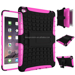 stand back cover case for ipad mini 4 with armor case for ipad mini 4