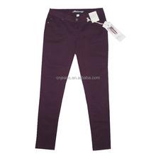 Cheap Stock Low waist art denim for women jeans