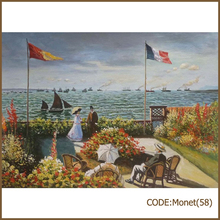 High quality Monet oil painting reproduction supplies