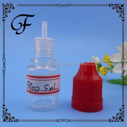 30ml pet ecig dropper bottle with childproof and tamperproof cap plastic liquid detergent bottle