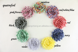 ombre artifical flowers hot selling chiffon lace collar applique for kids hair