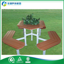 Newest children's wooden picnic table Solid Wood Dining Table