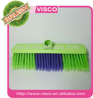 Industrial push plastic broom with long soft bristle VAL126