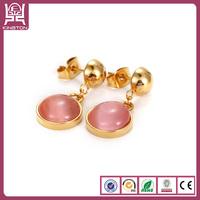 24 carat gold opal earrings for girls