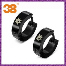 2012 NEW lady stylish simple titanium jewellery earring paypal