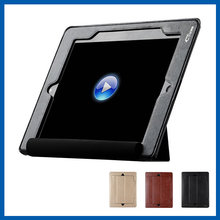 C&T Colourful Elastic Hand Strap Slim Fit Leather Folio Smart Cover Stand for ipad air case
