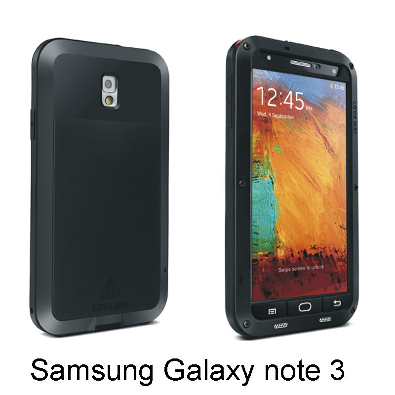 Free Shipping Factory price phone accessory note 3 iii N9000 metal cheap mobile phone case