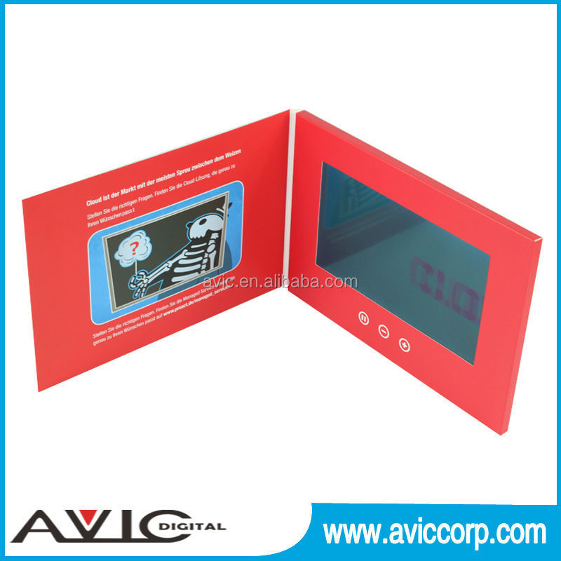 7 inch a4 size lcd customized advertising business card for Business card size ad
