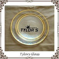 Gold Rim Dinner Plates For Weddings, Catering And Hotel
