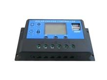 10a 20a 30a 12v 24v 48v pwm controlador de carga solar com usb