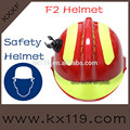 de color rojo con amarillo reflectante casco de rescate de emergencia casco