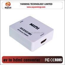 Mini AV to HDMI video Converter For HD TV 720p 1080p