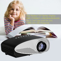Vivibright mini led projector 8S,480*320P,Dynamic video 1080P/4K Decode,double HDMI,exceed pico Projector for XBOX/PS3/Gift game