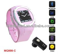 GSM cheaper wrist wac phone with support mut-language