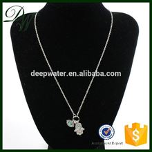 2015 new fasion cheap and wholesale meaningful pendant necklace, 18k white gold necklace, silver pendant necklace