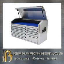 china manufacturing custom 72 inch 15 drawer stainless steel tool chest , tool cabinet , tool box