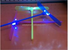 Good quality LED toy bamboo dragonfly flying fairy an arrow mushroom lamp