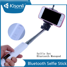 Bluetooth & Zoom channel wireless monopod selfie stick for iPhone 6 plus