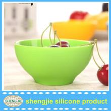 China manufacturer flexible silicone mixing bowl , washable fruit bowl kids silicone bowl