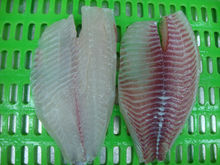 FROZEN BLACK TILAPIA FILLET, IQF (IVP, IWP, BULK PACK), NET WEIGHT 80%, REAL COUNT SIZE.