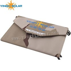 Yingli 7w folding solar panel charger usb solar charger bag for Ipad/mobile phone