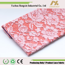 china floral lace fabric pink nylon cotton cord lace design for ladies dress