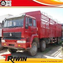 manufacturer dealer EURO3 210hp 155KW diesel engine 6x2 8 wheel 10 ton animal transportion truck