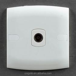 SASO certificated igoto E109 british style 1 gang TV socket