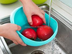 New design plastic fruit washing basket /drain basket/vegetable washing basket