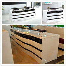 Modern high glossy fashion design commercial sales counter