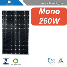 CEC listed 260w pv modules solar panel monocrystalline connect to dc ac inverter for solar on grid system for home use
