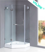 2015 new design tempered galss small cheap 3 sided shower enclosures