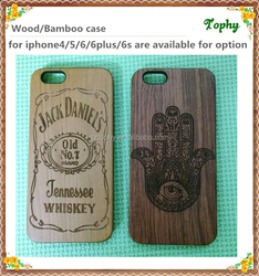 custom wooden cell phone case,wooden covers for iphone 6,engrave logo on case