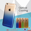 Crystal hard pc case for iphone 6 case,gradient optical coating mobile cover for iphone,colorful clear case for mobile phone