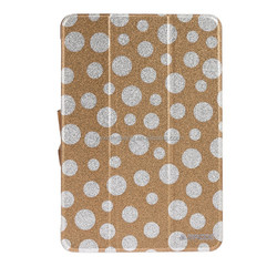 polka dot pattern hot press leather case For ipad mini 2