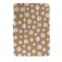 polka dot pattern hot press leather case For ipad mini 2