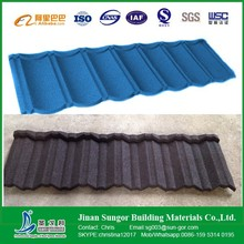 Decorative Low Price Stone Chip Coated Metal Roof Tile