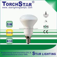 R50 Aluminum+plastic LED spot light bulb E14 base