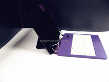 Purple case. Universal Tablet Case , leather tablet keyboard case, Plastic USB keyboard