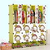 Environmental lovely Monkey designs children bedroom furniture cheap cartoon wardrobe box (FH-AL0956-16)