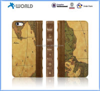 Hotsale 2015 new gift OEM factory map leather phone cover for iphone 6