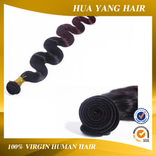 100% indian hair unprocessed cheap factory price ombre color human hair weft
