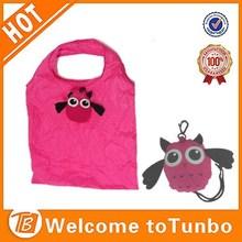 Reusable eco promotional product animal shape nylon shopping foldable tote bag