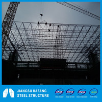 Stadium by space frame structure roofing