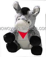 imprinted Baby Donkey sitting Gray embroidery promotional plush stuffed soft custom logo Baby Donkey sitting Gray beanbag mascot
