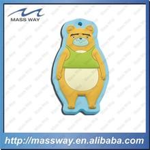 funny custom 3D pananda animal shape rubber soft PVC keychains